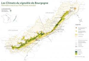 Carte Climats de Bourgogne